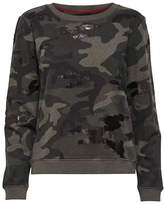 Only Sequined Camouflage Sweatshirt