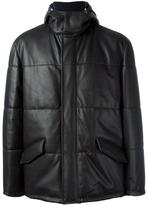 Kiton leather coat