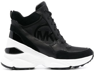 MICHAEL Michael Kors Georgie mixed-media wedge sneakers