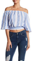 Blvd Nautical Off-the-Shoulder Cropped Blouse