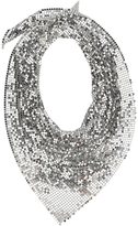Paco Rabanne sequin scarf - women - Aluminium - One Size