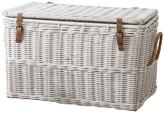Trunks East At Main's Milan White Rectangular Rattan Storage Trunk