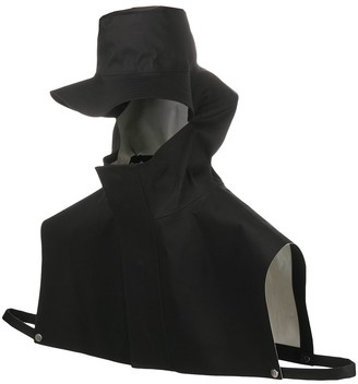 Jil Sander x Mackintosh bonded cotton rain hat