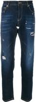 Les Hommes Urban distressed straight leg jeans