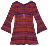 Amy Byer Stripe Bell Sleeve Dress, Big Girls (7-16)