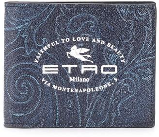 Etro Logo Print Wallet