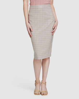 Oxford Women's Pencil skirts - Peggy Eco Check Suit Skirt - Size One Size, 6 at The Iconic