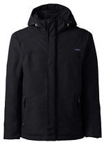 Classic Men's Tall Hooded Squall Jacket-Black