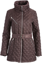 Andrew Marc Gunmetal Cassidy Quilted Coat