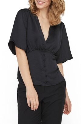 AWARE BY VERO MODA VERO MODA Flutter Sleeve Blouse