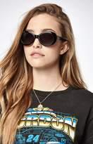 La Hearts Oval Round Sunglasses