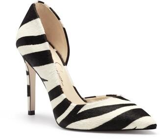 Jessica Simpson Prizma6 Zebra Stripe Half d'Orsay Pump