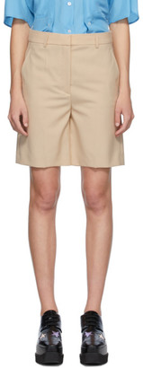 Stella McCartney Beige Amber Bell Shorts