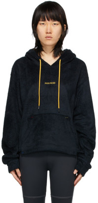 Pyer Moss Black Sherpa Cropped Hoodie