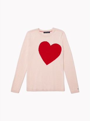 Tommy Hilfiger Essential Heart Intarsia Sweater