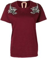 No.21 sequinned patches T-shirt