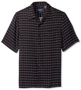 Nat Nast Men's Diamond Print Short Sleeve Shirt