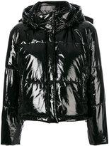 MSGM hooded puffer jacket - women - Polyester/Polyurethane - 40