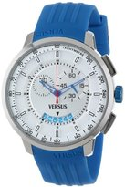 Versus By Versace Men's SGV030013 Manhattan Blue Rubber Chronograph Tachymeter Date Watch