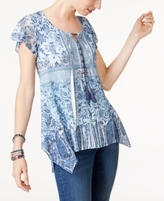 Style&Co. Style & Co Style & Co Petite Printed Babydoll Tunic, Created for Macy's
