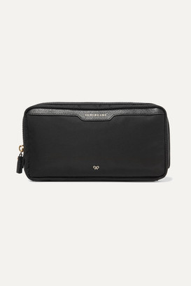 Anya Hindmarch Suncreams Leather-trimmed Shell Cosmetics Case - Black