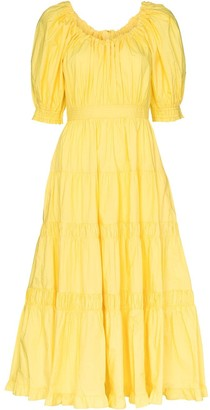 Ulla Johnson Colette puff sleeve flared dress
