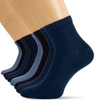 S'Oliver Women's 100 DEN Ankle Socks - Blue - (Pack of 8)