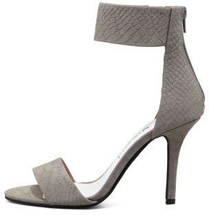 Jeffrey Campbell Inaba Snake-Embossed Ankle-Band Sandal
