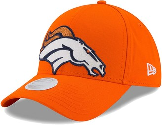 New Era Women's Orange Denver Broncos Glitter Glam 9FORTY Adjustable Hat