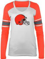 New Era Women's Cleveland Browns NFL Long-Sleeve Tri-Blend V-Neck