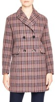 Sandro Women's Double Breasted Plaid Coat