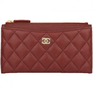Chanel Timeless/Classique Burgundy Leather Purses, wallets & cases