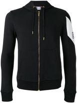 Moncler Gamme Bleu logo plaque zipped hoodie