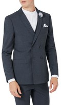 Topman Men's Skinny Fit Double Breasted Suit Jacket