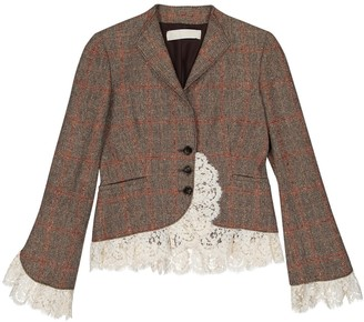 Valentino Brown Wool Jackets