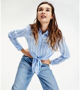 Tommy Jeans Striped Tie-Front Shirt