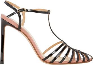Francesco Russo T-Strap Leather Stiletto Sandals