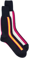 Sacai miss-matched stripe intarsia socks