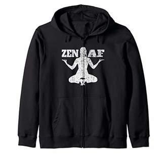 ZEN AF Shirt Funny Yoga Shirt For Women Yoga Gift Meditation Zip Hoodie