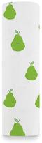 Aden Anais 47'' x 47'' White & Green Pear Organic Cotton Swaddle Blanket