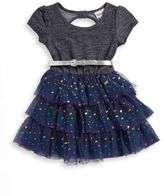 Little Lass Little Girl's Glitter and Foil Dress