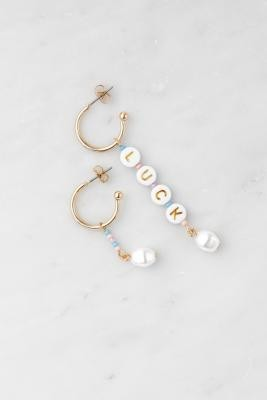 Urban Outfitters Gold-Tone Luck Beaded Drop Earrings - Gold ALL at