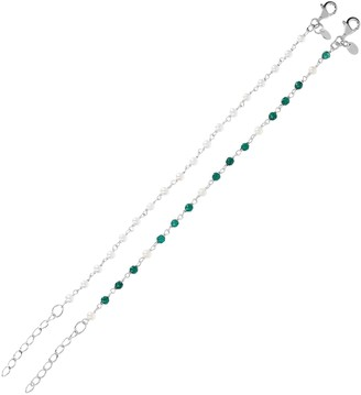 Honora Cultured Pearl Set of 2 Bracelets, Sterling