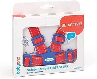 BabyOno Baby Safety Harness & Walking Rein | Red