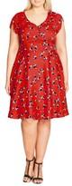 City Chic Plus Size Women's Cutie Pie Fit & Flare Dress