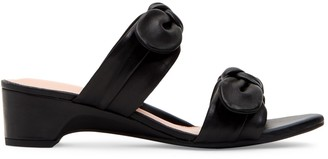 Taryn Rose Nanette Bow Leather Sandals