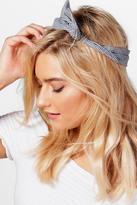 boohoo Hannah Gingham Check Bend Tie Headscarf