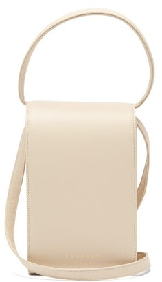 Tsatsas Malva 3 Grained-leather Cross-body Bag - Ivory