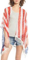 Capelli of New York Americana Fringe Kimono