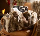 Pottery Barn Faux Fur Duffle Bag